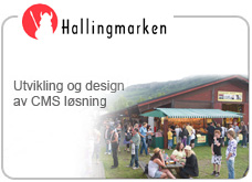 cms l�sning for Hallingmarken, samt custom designet side